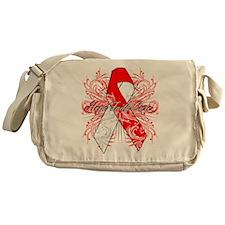 Oral Cancer Flourish Messenger Bag