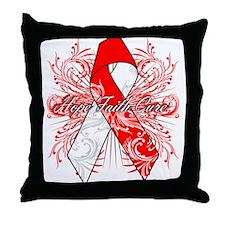 Oral Cancer Flourish Throw Pillow