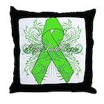 Non-Hodgkin Lymphoma Flourish Throw Pillow