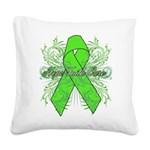 Non-Hodgkin Lymphoma Flourish Square Canvas Pillow