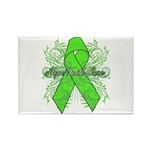 Non-Hodgkin Lymphoma Flourish Rectangle Magnet (10