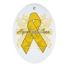 Neuroblastoma Flourish Ornament (Oval)