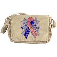 Male Breast Cancer Flourish Messenger Bag