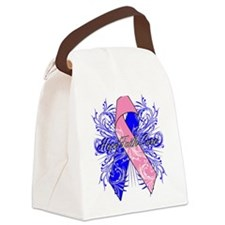 Male Breast Cancer Flourish Canvas Lunch Bag