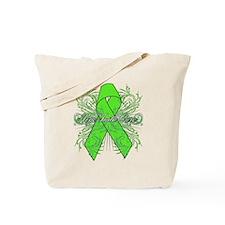 Lymphoma Flourish Tote Bag