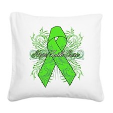 Lymphoma Flourish Square Canvas Pillow