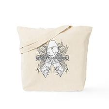 Lung Cancer Flourish Tote Bag