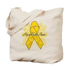 Childhood Cancer Flourish Tote Bag