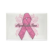 Breast Cancer Flourish Rectangle Magnet
