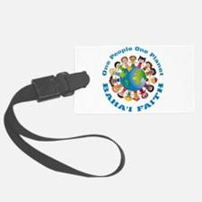 One people One planet Baha'i Luggage Tag