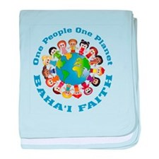 One people One planet Baha'i baby blanket