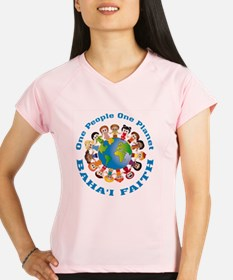 One people One planet Baha'i Performance Dry T-Shi
