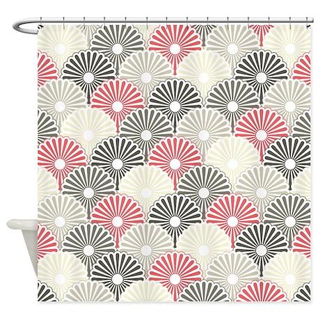 Asian floral pattern shower curtain by bestshowercurtains