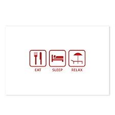 Eat Sleep Relax Postcards (Package of 8)