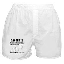 Danger: Testosterone Boxer Shorts