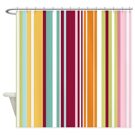 Colorful stripes shower curtain by bestshowercurtains Colorful shower curtains
