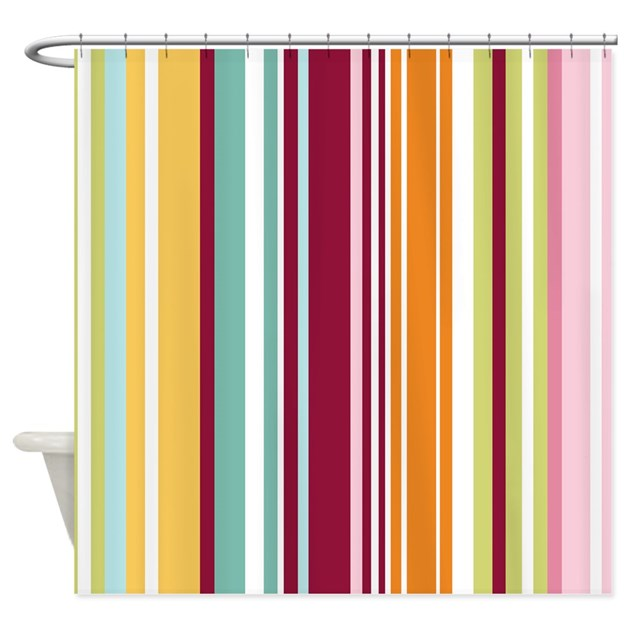 Colorful Stripes Shower Curtain By Bestshowercurtains