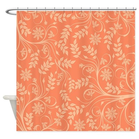 peach leaf shower curtain by laurie77