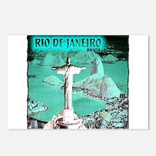 Rio de Janeiro brazil art illustration Postcards (