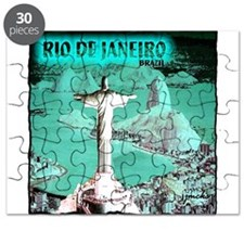 Rio de Janeiro brazil art illustration Puzzle