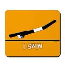 i swim (boy) solid orange Mousepad