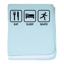 Eat Sleep Skate baby blanket