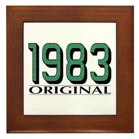 1983 Original Framed Tile