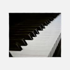 Piano Keys Throw Blanket