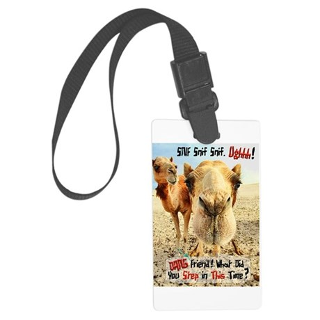 where have you been.png Large Luggage Tag