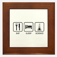 Eat Sleep Science Framed Tile