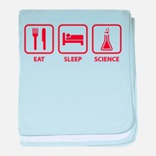 Eat Sleep Science baby blanket