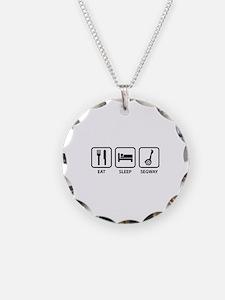 Eat Sleep Segway Necklace