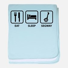 Eat Sleep Segway baby blanket