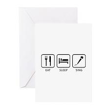 Eat Sleep Sing Greeting Cards (Pk of 10)