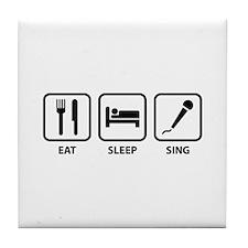 Eat Sleep Sing Tile Coaster