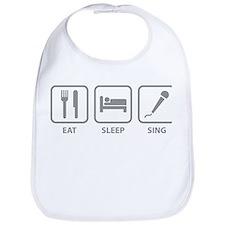 Eat Sleep Sing Bib