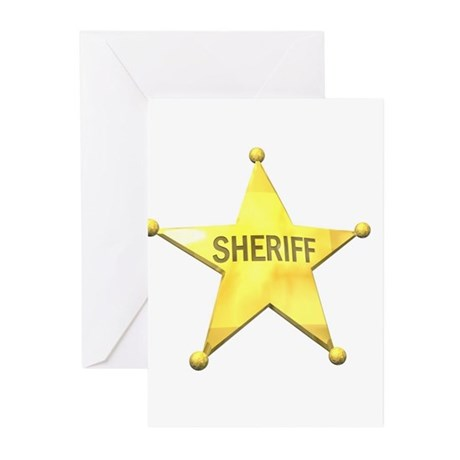 Sheriff Badge Greeting Cards (Pk of 10)