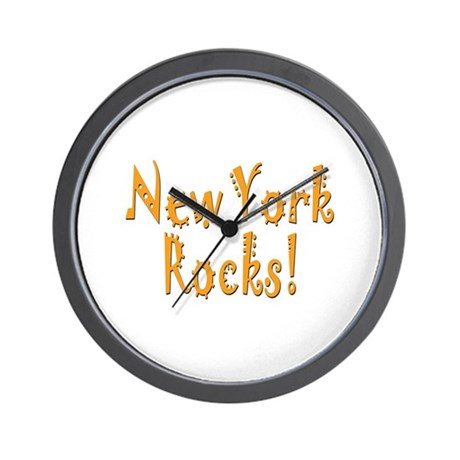 New York Rocks! Wall Clock