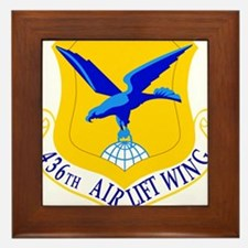 USAF Air Force 436th Airlift Wing Shield Framed Ti