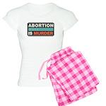 Abortion Is Murder Women's Light Pajamas