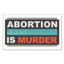Abortion Is Murder Decal