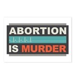 Abortion Is Murder Postcards (Package of 8)