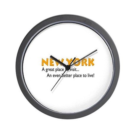 New York...great place to live Wall Clock