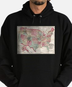 Vintage United States Map (1870) Sweatshirt