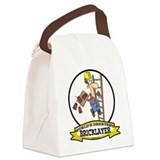 Bricklaying Canvas Lunch Bag
