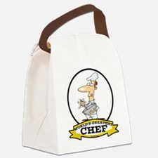 WORLDS GREATEST CHEF CARTOON.png Canvas Lunch Bag