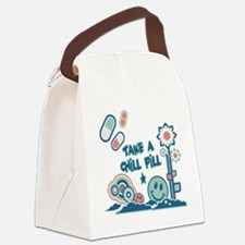 Take a Chill Pill.png Canvas Lunch Bag