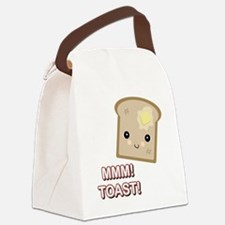 mmm toast.png Canvas Lunch Bag