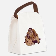 daddy and baby orangatang.png Canvas Lunch Bag