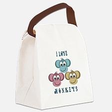 i love monkeys2.png Canvas Lunch Bag